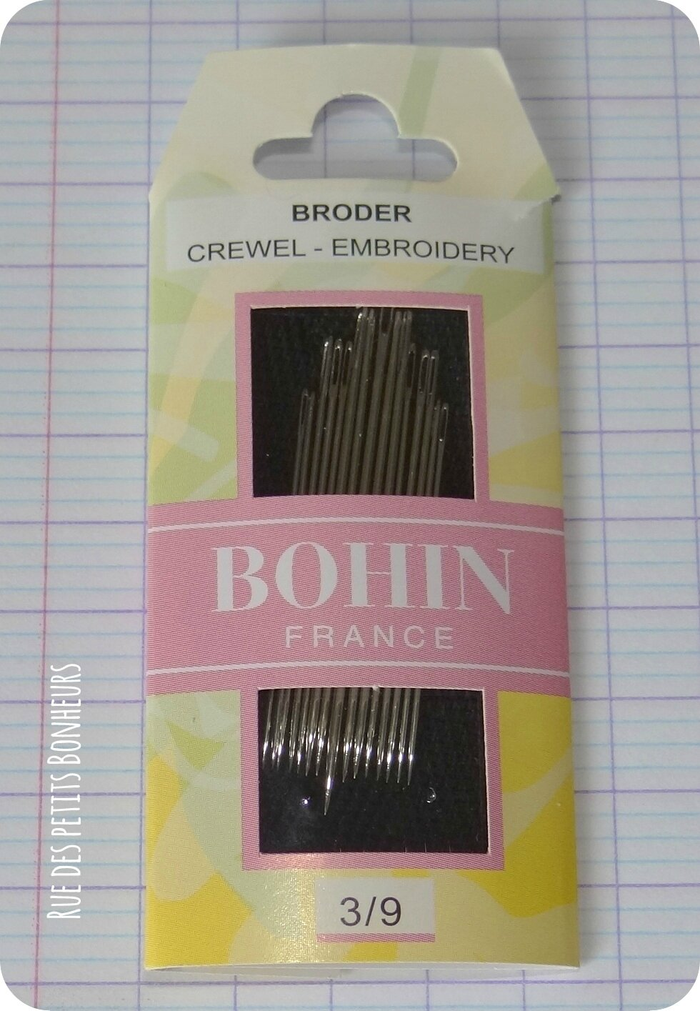 Aiguilles broderie 3/9