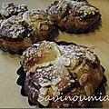 Brioches roulées nutella amandes effilées