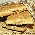 Façon panini au chorizo et fromage à raclette