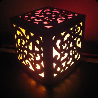 lampe en carton et papier calque la cabane d 39 elilou blog couture. Black Bedroom Furniture Sets. Home Design Ideas