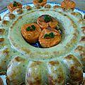 Couronne de courgettes, jambon et parmesan