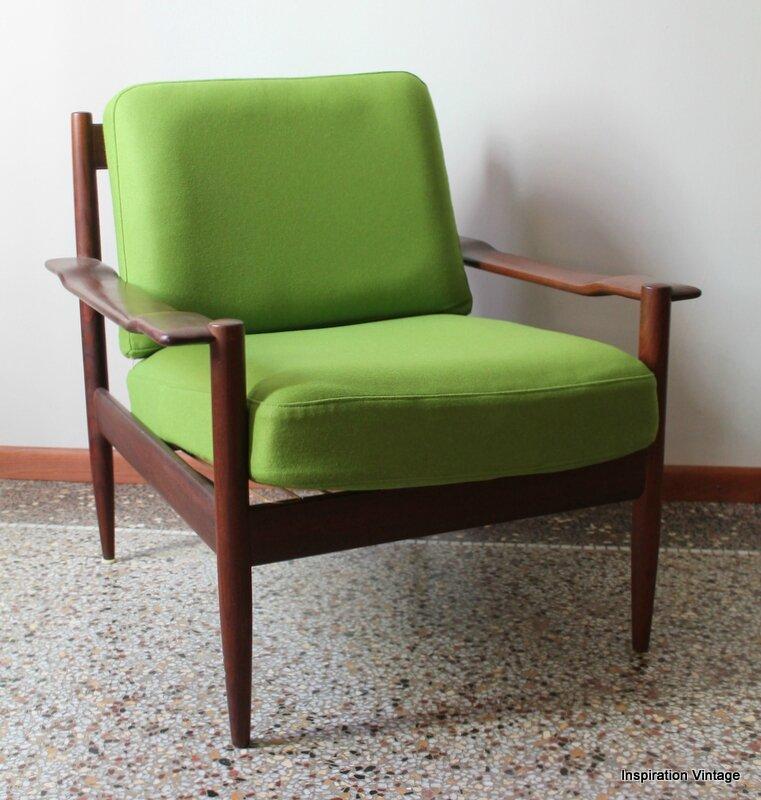 Fauteuil Scandinave 60 39 S Vert Inspiration Vintage