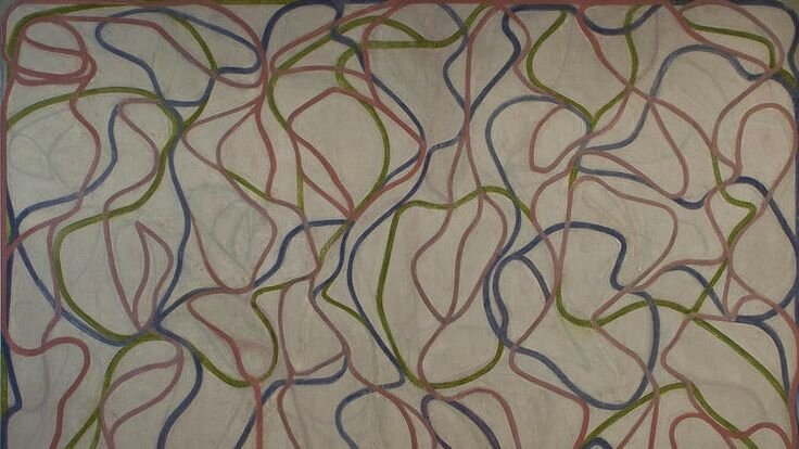 Brice Marden's Study for the Muses (Eagles Mere Version), 1991-94, 1997-99