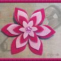Broche étoile feutrine fushia et rose (N)