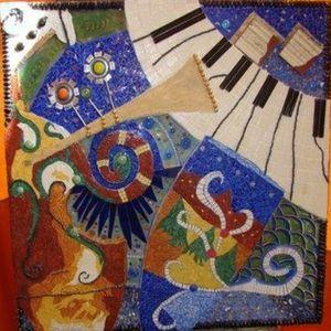 L 39 art de la mosaique lamaraboutineculture for Peinture mosaique