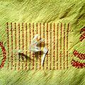 Coussin de lecture en récupération de sac à linges
