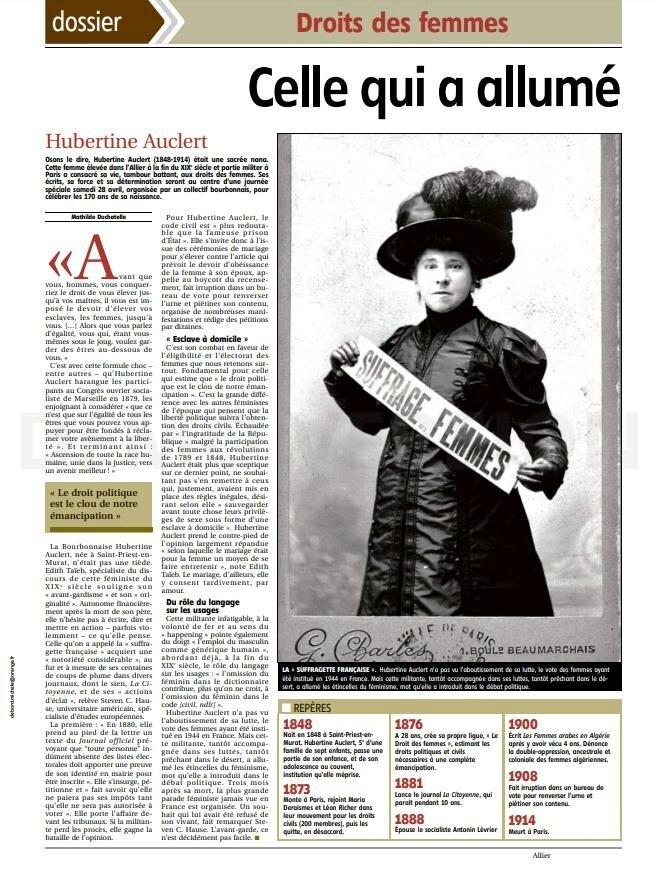 """""""Celle qui a allumé l'étincelle du féminisme"""" #CollectifHubertineAuclert Hubertine et les autres... sur France 5"""