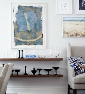 vignette_display_open_shelves_shelving_between_living_room_and_dining_room_art_work_multimedia_painting1
