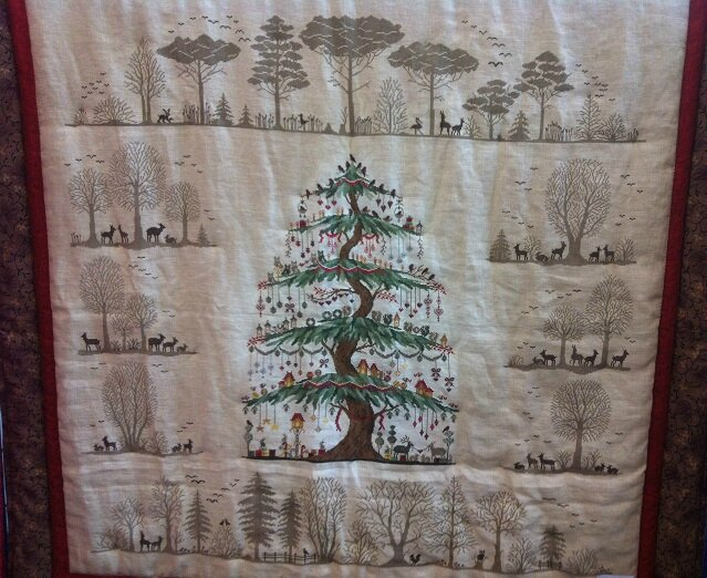 patch 19 broderie arbre