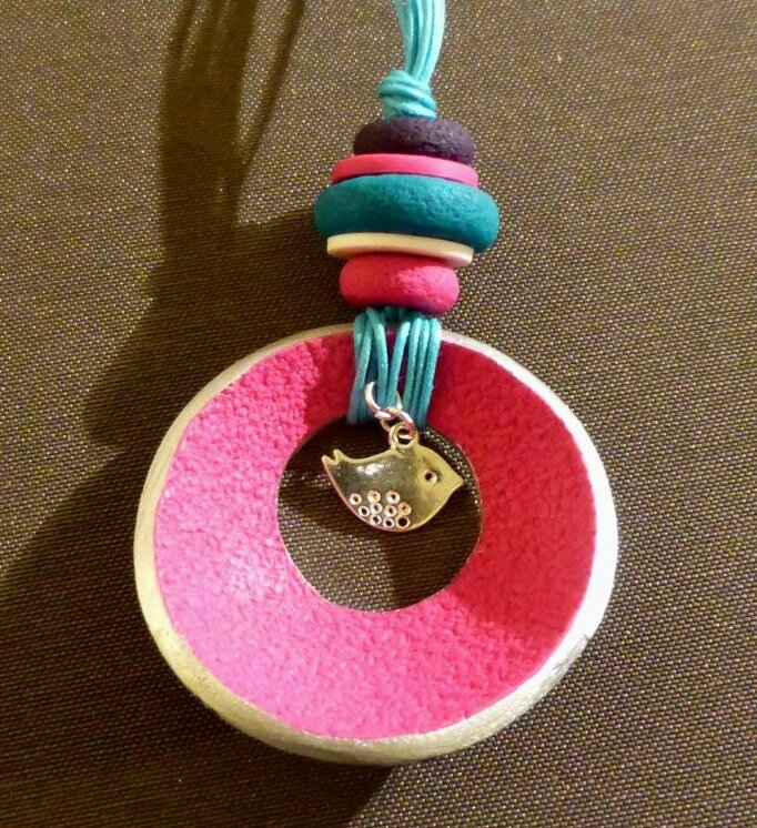 SOLY CAT- PENDENTIF VERSO TIE AND DYE