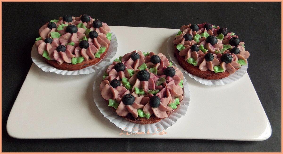 Petits gâteaux moelleux aux myrtilles