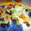 Salade de chou pointu aux raisins et à la mimolette!
