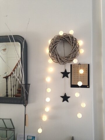 Guirlande lumineuse étoiles dorées