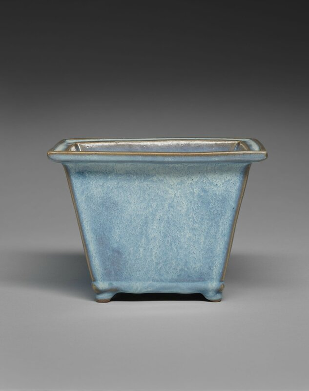 Rectangular Flowerpot with Four Small Feet, Ming dynasty, 1368-1644, probably 15th century, 1942