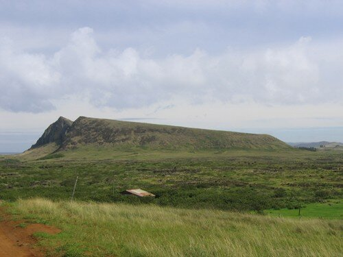 Rano Raraku from Poike Ditch