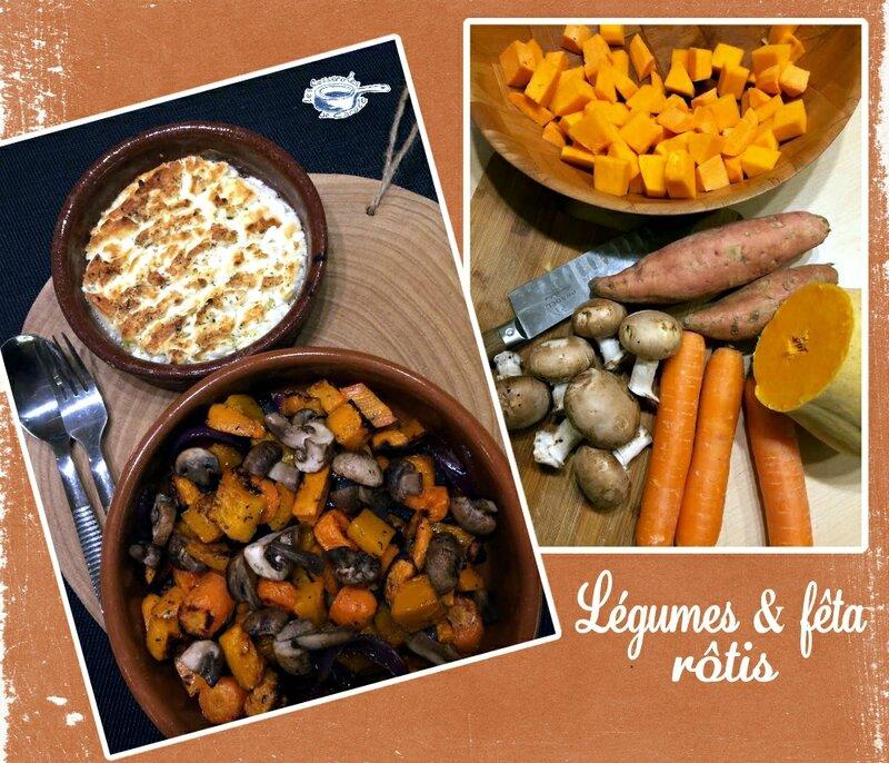 légumes rôtis et feta(scrap)
