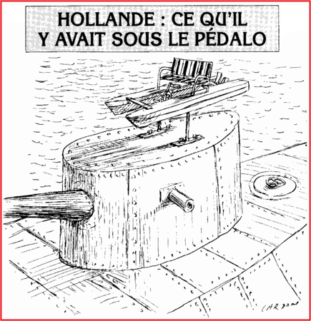 hollande pedalo torpille