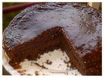Moelleux fondant choco caramel orange pralin floutée
