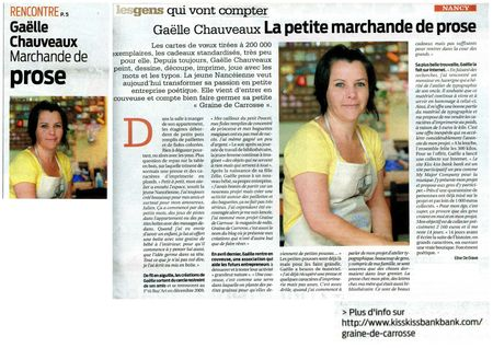 Article Semaine de Nancy