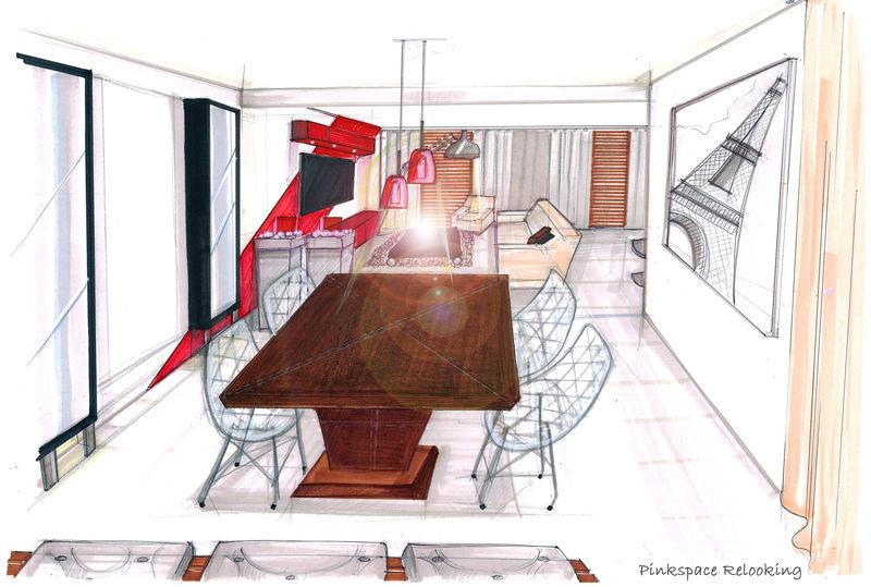 Superior Dessin Du0027une Salle à Manger Relooking Séjour/salle à Manger (77)