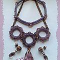 772 parure goutte cristal astral pink