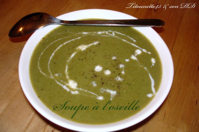 Soupe a l 39 oseille au thermomix les recettes de titounette45 - Soupe de brocolis thermomix ...