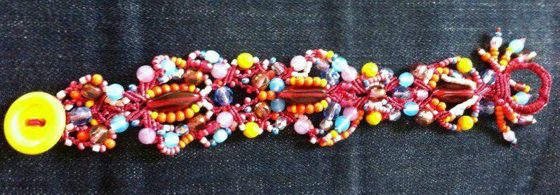 Bracelet en Macramé de perles de Bohème