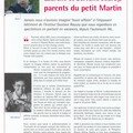 Tmoignage paru dans le journal IGR info