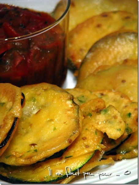 pakora courgettes