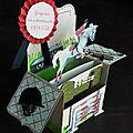 Card-in-a-box équitation - profil gauche