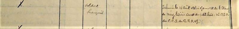 1918 26 Août inconnu