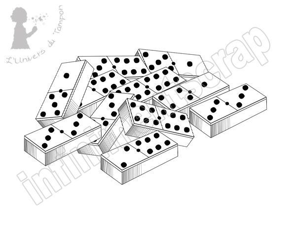 Pin domino coloriage on pinterest - Coloriage domino ...