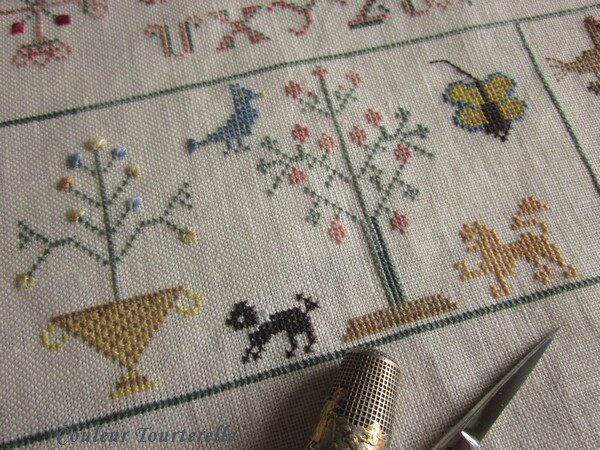 Mother's sampler 1799 Couleur Tourterelle 1-2