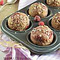Muffins à la framboise & au petit épeautre