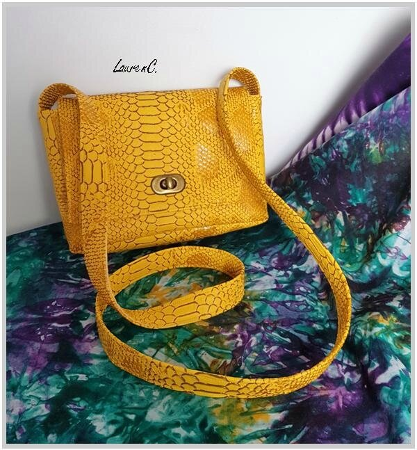SAC SIMILI DRAGON JAUNE