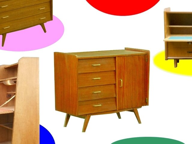BUFFET COMMODE VINTAGE ANNEES 60