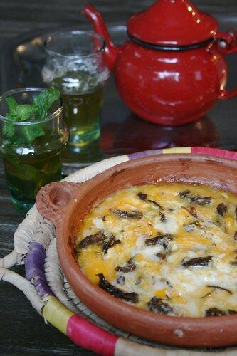 Omelette au Khliî (viande séchée et confite) à la marocaine