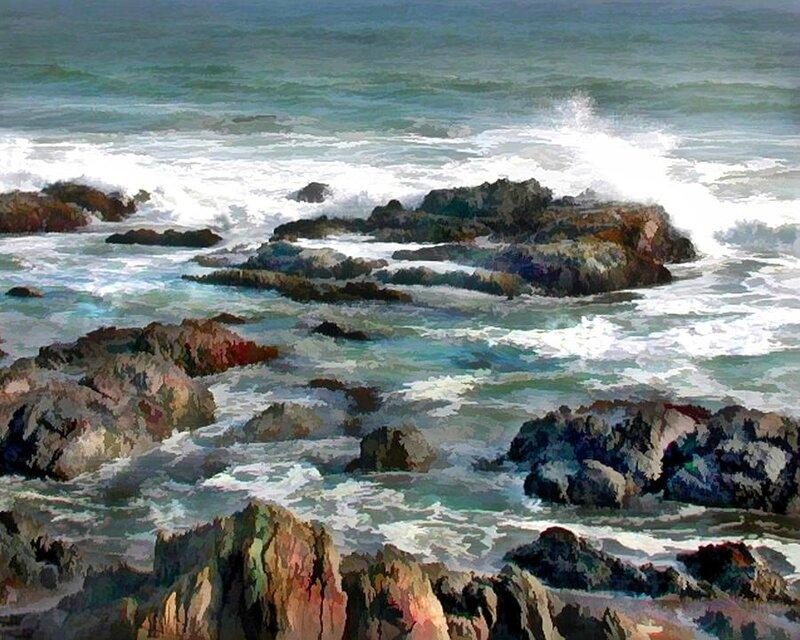 elaine-plesser - rocky-ocean-shoreline-two