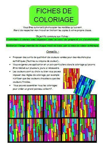 page explications fiches de coloriage