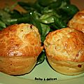 Muffins jambon-fromage