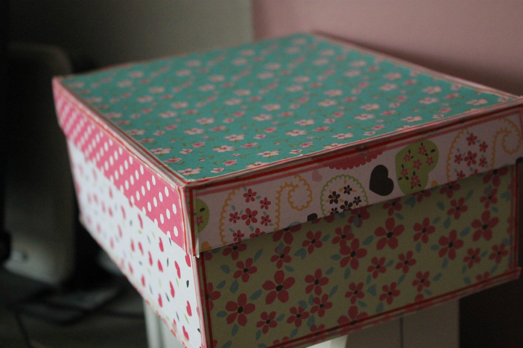 customiser une boite a chaussures le coin de lucie. Black Bedroom Furniture Sets. Home Design Ideas