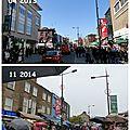 Quartier de camden town (londres) sous la pluie puis au soleil