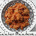 Kâaber maâdnous - boulettes de viande au persil