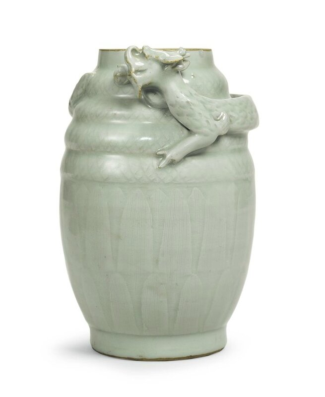 A 'Longquan' celadon funerary jar, Southern Song dynasty