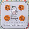 Bouton enfant - voiture orange