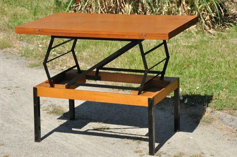 table basse transformable article vendu antiquit s du vingti me. Black Bedroom Furniture Sets. Home Design Ideas