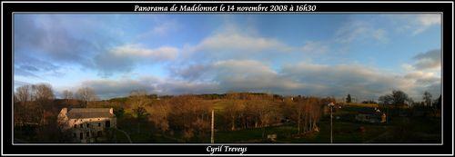 2008 11 14 Panorama du Paysage de Madelonnet à 16h30