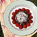 Petits gâteaux énergie chocolat-framboises (cru, vegan)