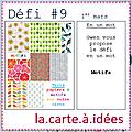 Défi # 9 la carte a idees