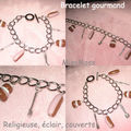 Bracelet gourmand rose